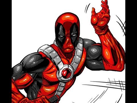 Deadpool Speed Drawing by Robert A. Marzullo
