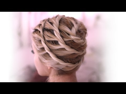 Trendy spiral updo - everyday hairstyle for medium long hair - tutorial fall 2013