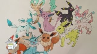 How To Draw Pokemon: No. 133 Eevee And All Its Evolutions