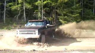 83 Lifted 454 Chevy Short Box 4x4 Playin In Some Mud