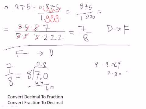 Excel 2010 Business Math 21: Convert Decimal To Fraction &amp; Convert Fraction To Decimal