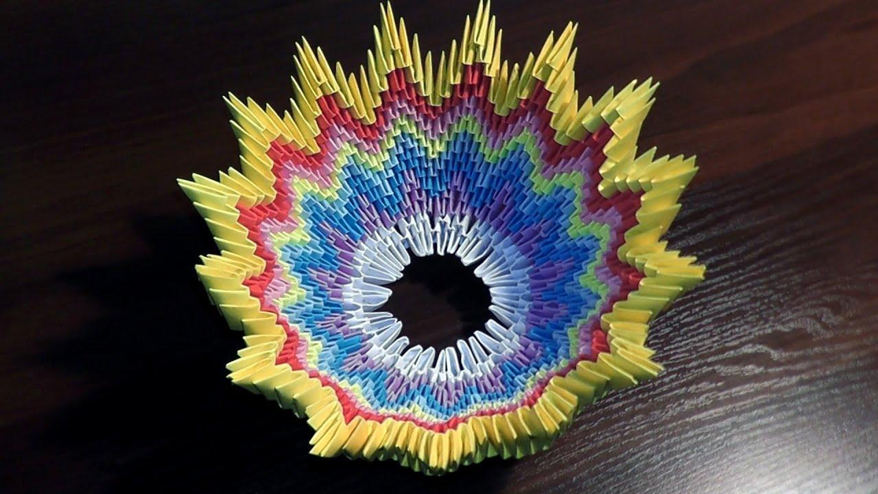 Конфетница из модулей оригами пошаговая инструкция
