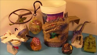 1998 GODZILLA SET OF 9 TACO BELL KID'S MEAL MOVIE TOY'S