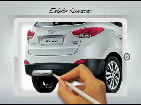 hyundai ix35 tucson accessories youtube. Black Bedroom Furniture Sets. Home Design Ideas