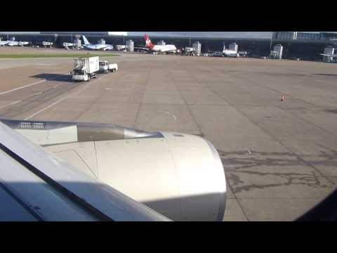 ETIHAD AIRWAYS A330-200 ON BOARD, push back, engine start, taxi & take-off from Manchester Airport