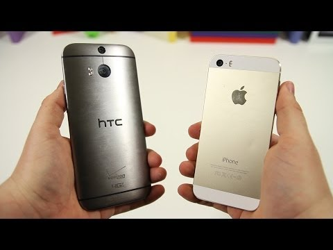 All New HTC One (M8) vs Apple iPhone 5s - Full Comparison