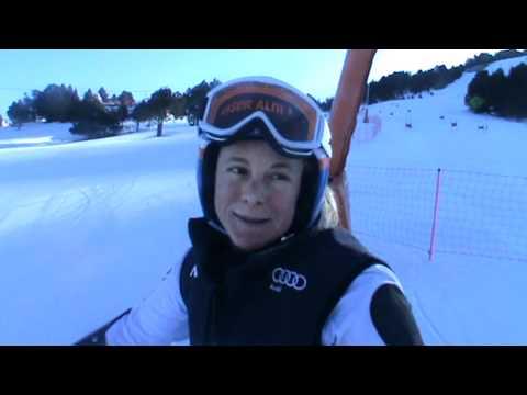 Video - Denise Karbon all'attacco sulla pista di Soldeu
