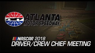 Driver meeting video: Atlanta Motor Speedway. Гонки Наскар. Смотреть видео Nascar
