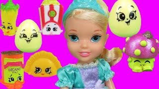 SHOPKINS! (Part 1) Elsa and Anna toddlers PLAY with Shopkins! Melody joins them