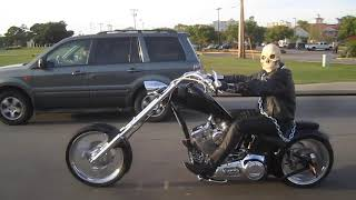 The Ghost Rider In Myrtle Beach On Chopper (Halloween