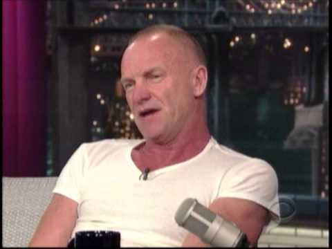 Sting Interview with David Letterman Sept 30, 2013
