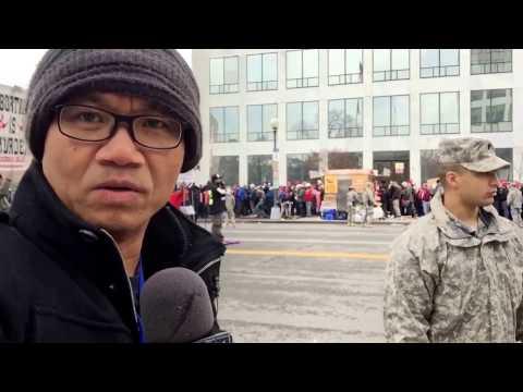 Quang cảnh bên ngoài lễ tuyên thệ Tổng thống Mỹ