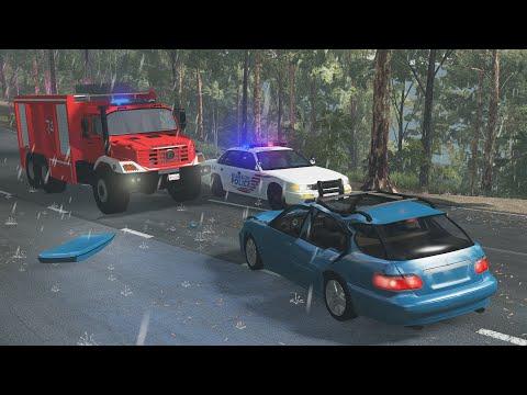 Emergency Response Crashes   BeamNG.drive