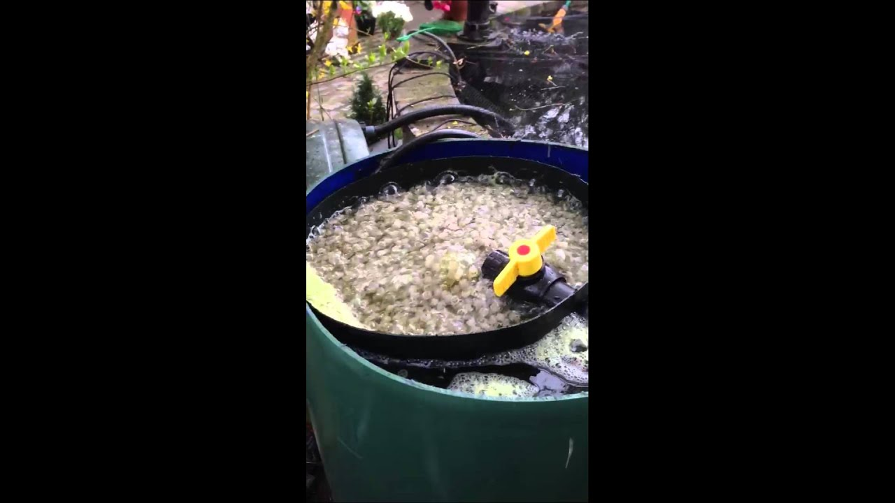 Diy biological pond filter self cleaning kaldness k1 media for Best homemade pond filter media