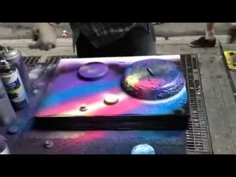 spray paint art techniques youtube. Black Bedroom Furniture Sets. Home Design Ideas