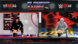 WWE 2K15 : CM Punk Entrance 2K15 Vs 2K14 Comparison