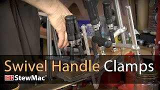 Watch the Trade Secrets Video, Swivel Handle Clamps for guitar repair and building