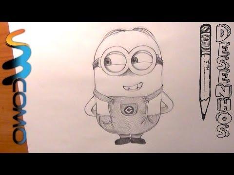Como desenhar um Minion de dois olhos