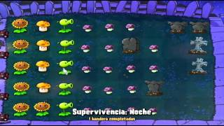 Plantas Vs Zombies 2 Parte 30 Supervivencia Noche