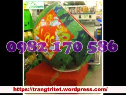 Nhận làm cành đào giả mô hình rồng rắn dưa hấu trang trí tết 0912 254 006