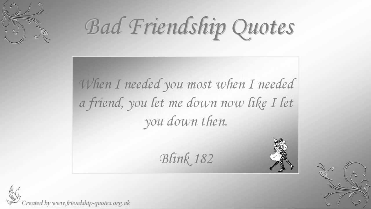 Quotes About Friendship Gone Wrong Quotes About Good Friendships Gone Bad  Bad Friendship Quotes
