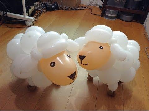 Làm con cừu bằng bóng bay nghệ thuật
