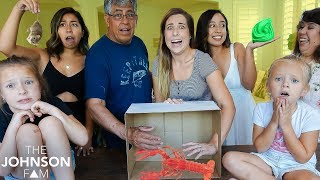 WHAT'S IN THE BOX CHALLENGE! 📦 Snakes, Lobsters, Creepy Bugs, Slime