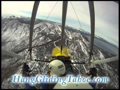 Winter Trike flight down Sierra Nevada Ridge