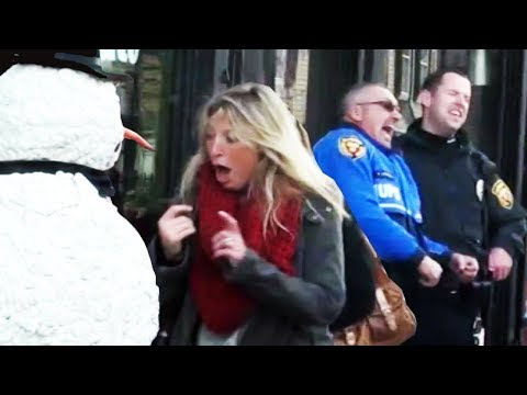 Thumbnail of video Scary Snowman Prank  Boston