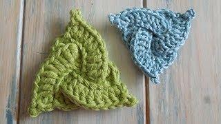 (crochet) How To Crochet A Celtic Triangle Yarn Scrap