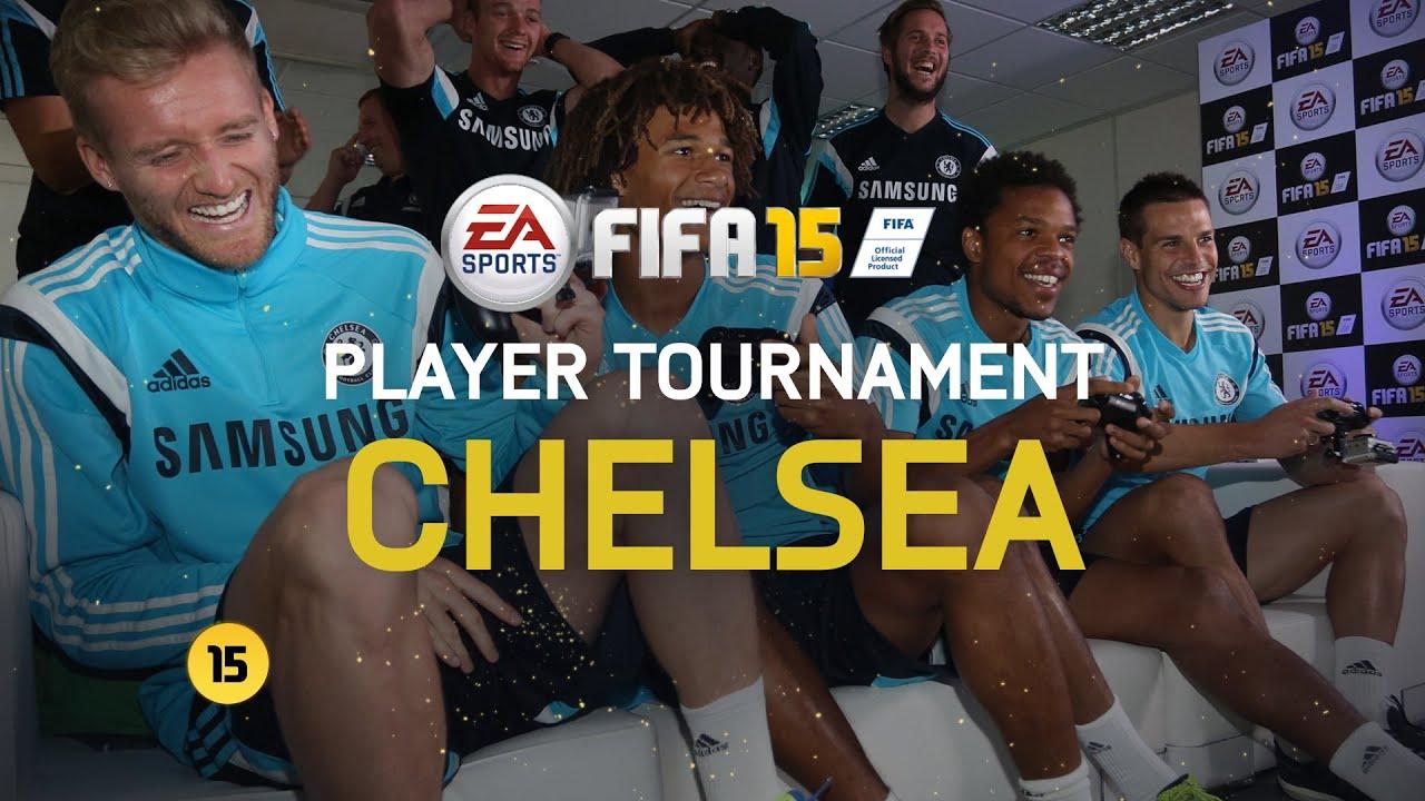 Футболисты Челси играют в FIFA 15