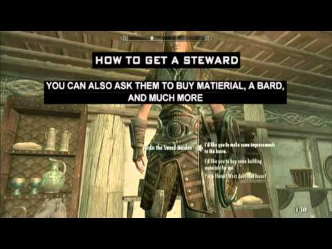 how to decide the stewart in skyrim