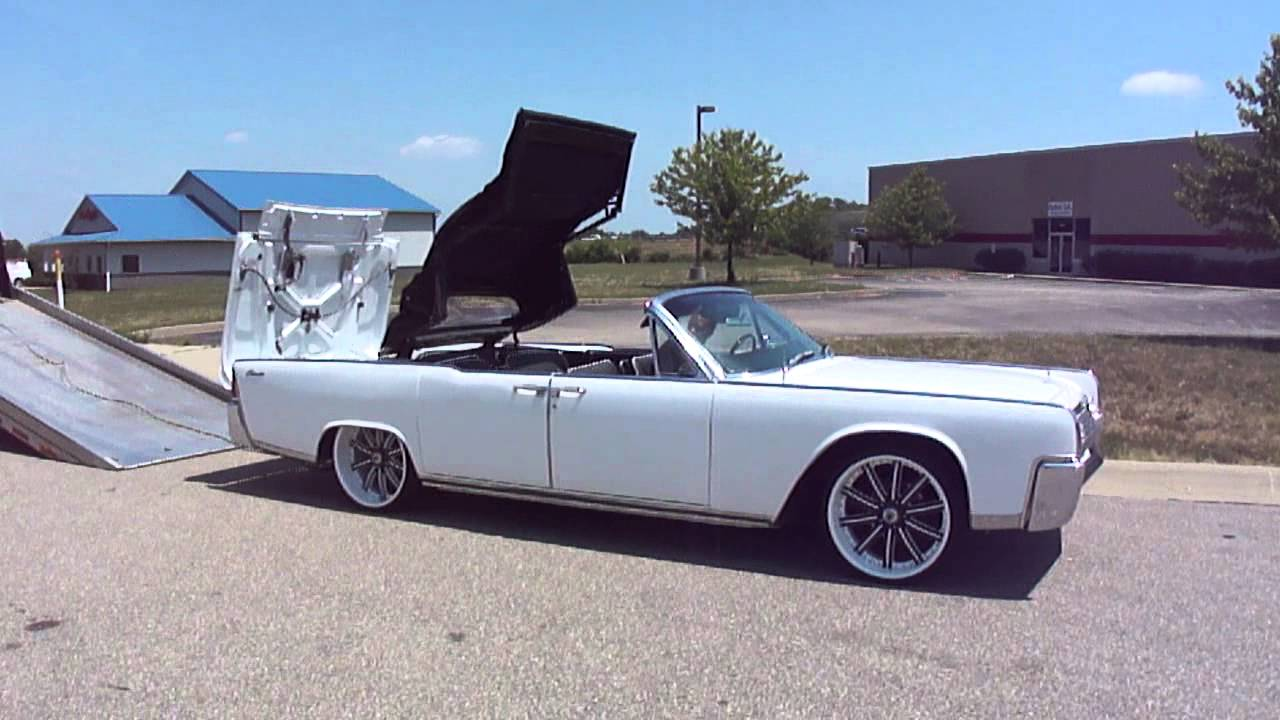 64 lincoln continental convertible white custom rims. Black Bedroom Furniture Sets. Home Design Ideas