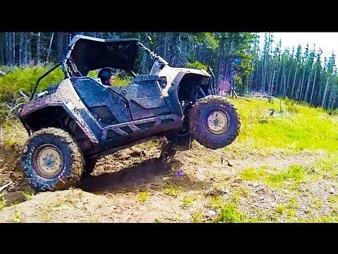 SxS RZR 800 and Honda 500 ATV 4x4 Mudding