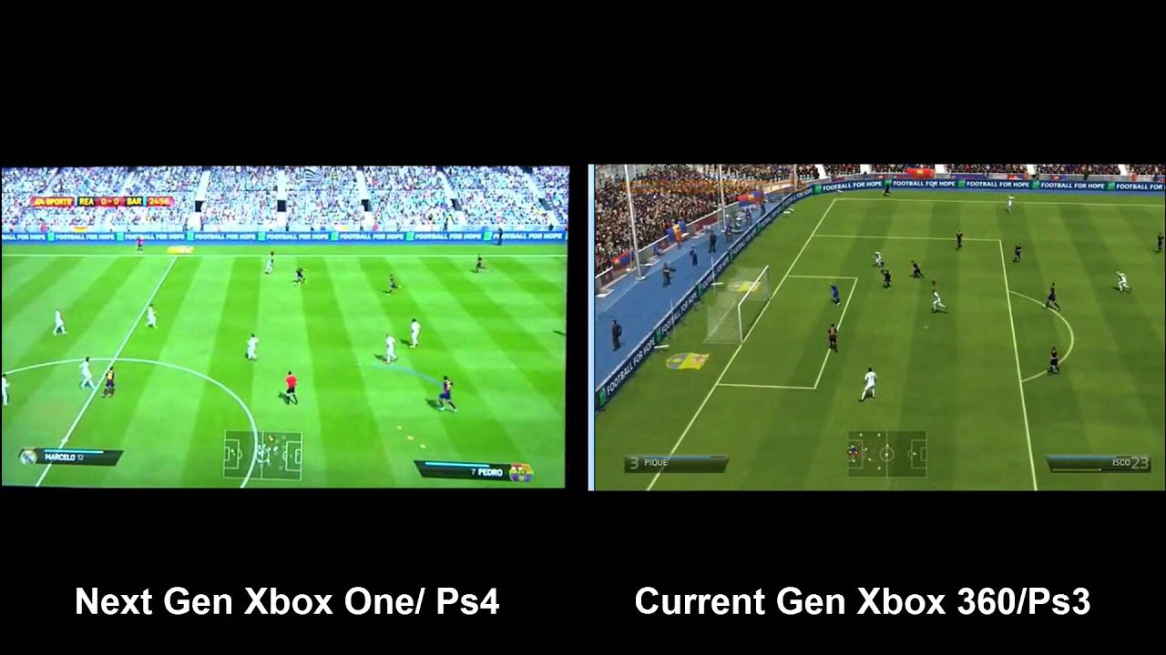 fifa 14 xbox one ps4 vs xbox 360 ps3 gameplay youtube