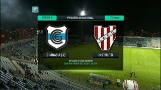 Fútbol en vivo.Gimnasia (J) - Instituto. Fecha 8. Torneo Primera B Nacional. FPT.