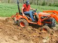 Plowing The Garden With Bx2200 2