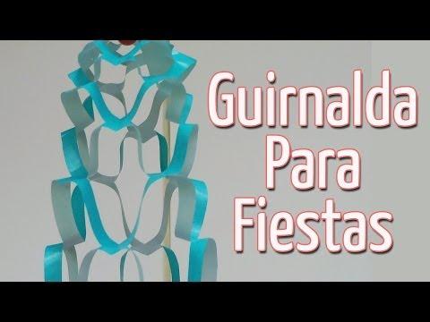 Manualidad:Guirnalda adorno para fiestas - Garland