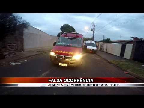 22/08/2018 - Bombeiros recebem falsa comunicação de incêndio em residência em Barretos