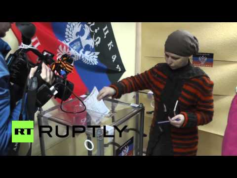 Ukraine: First ballots cast in Donetsk referendum