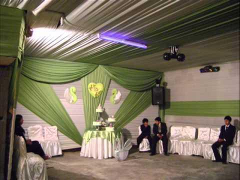 Toldos y youtube for Decoracion de salon para boda