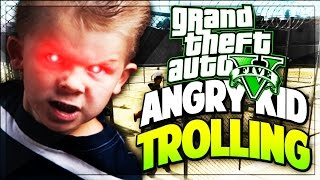 THIS KID ON GTA 5 WANTS TO FIGHT YOU! (Funny GTA V Moments