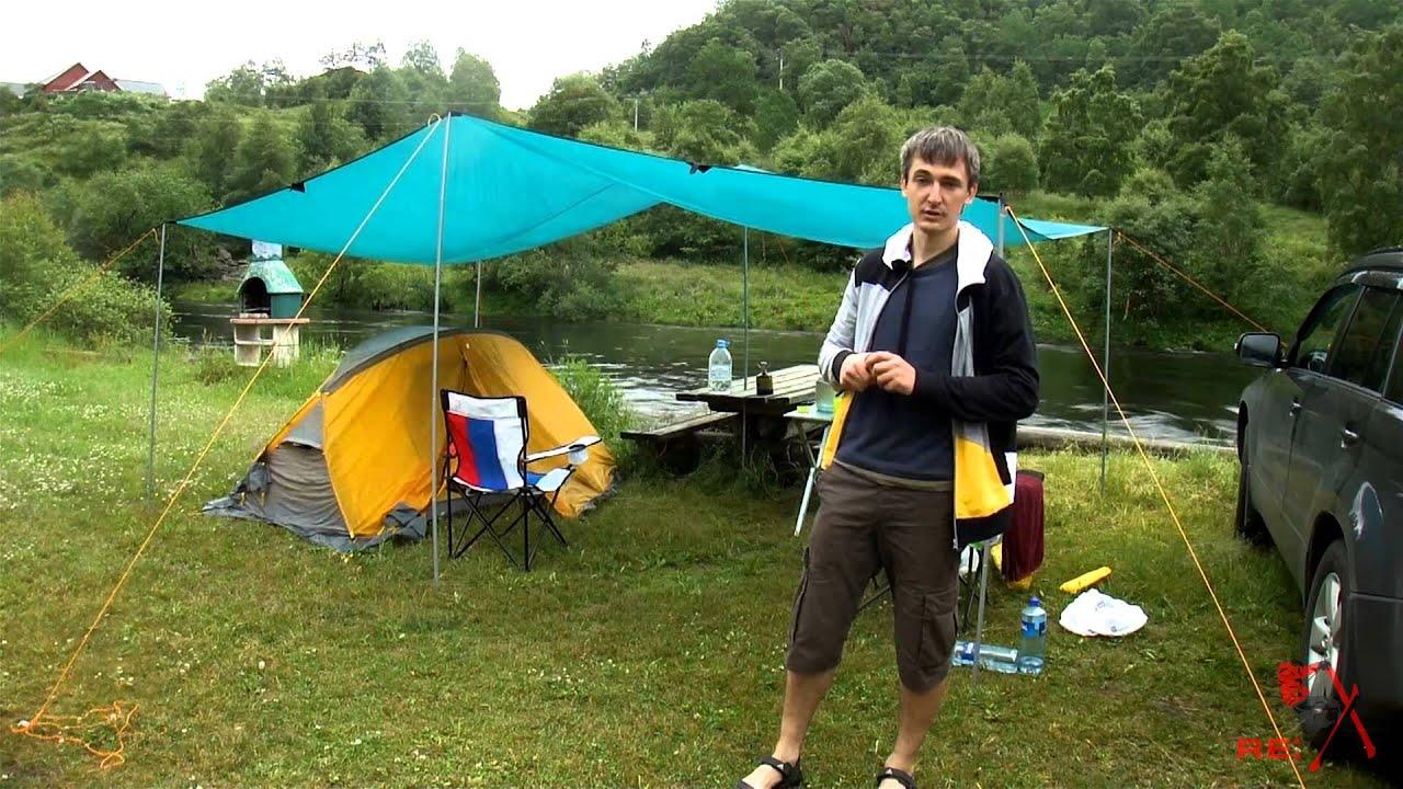 Тент над палаткой своими руками