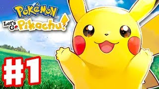 Pokemon Let's Go Pikachu and Eevee - Gameplay Walkthrough Part 1 - Intro and Gym Leader Brock!