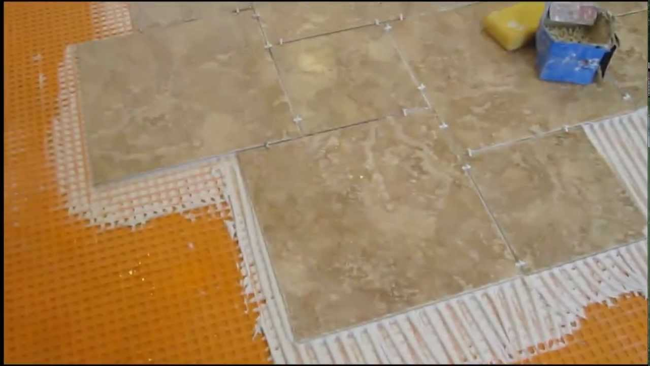 How to install pinwheel pattern kitchen ceramic tile floor for Ceramic tile kitchen floor patterns
