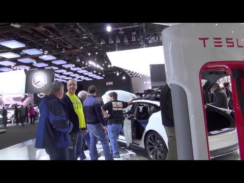 Tesla at Detroit International Auto Show 2014