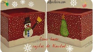Aprende a hacer cajas de Navidad