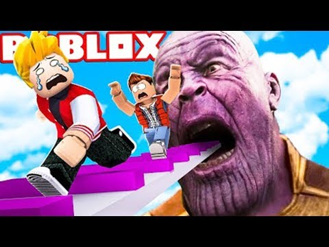 Escape Thanos Obby Funny Best Moments in Roblox