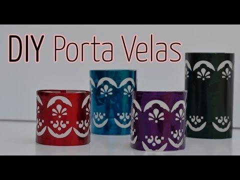 Manualidad express : Porta velas - Candle Holder