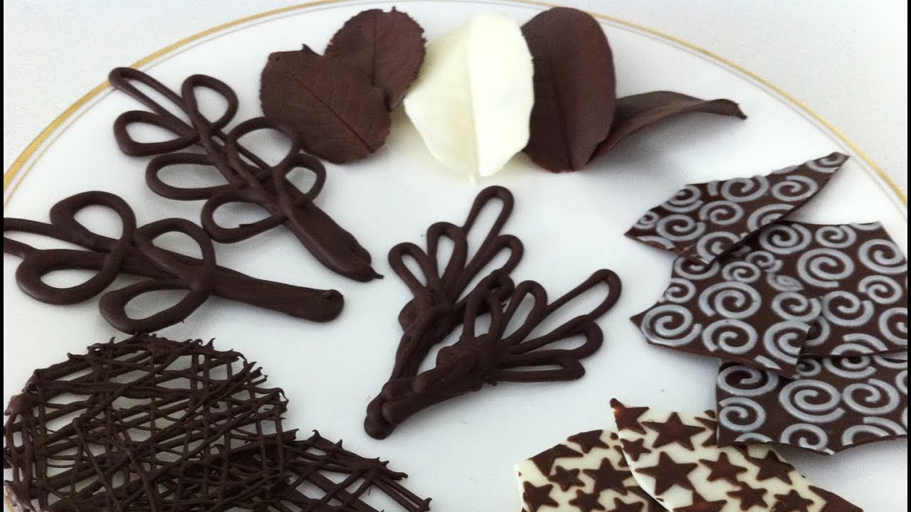 how to make chocolate garnishes decorations tutorial part
